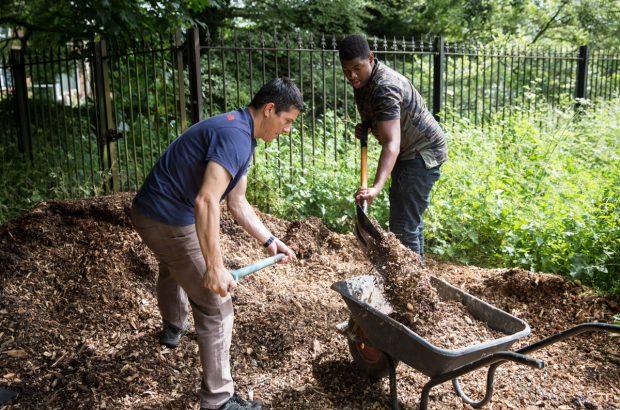 Betaris volunteers helping out